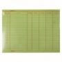 บัญชีสต็อกการ์ด หนา 110 g. 100 แผ่น/แพ็ค  5*8 นิ้ว  สีเขียว